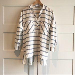Zara oversized popover shirt